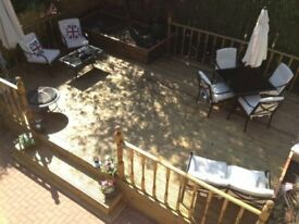 Brand new - TIMBER DECKING - fitted / lined / oiled - ANY LOCATION