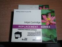 2 Brand New inkjet printer cartridges - Lexmark Black Ink