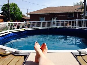 Used 18' above ground pool