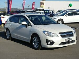 2014 Subaru Impreza G4 MY14 2.0i Lineartronic AWD White 6 Speed Constant Variable Hatchback Albion Park Rail Shellharbour Area Preview