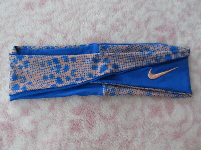 5636a2e549b53 Nike Twisted Headband Prize Blue Atomic Pink OSFM - New