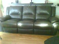 3 Seater Leather Double Electric Recliner