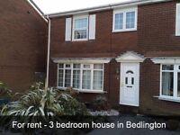For rent - 3 bedroom house in Bedlington