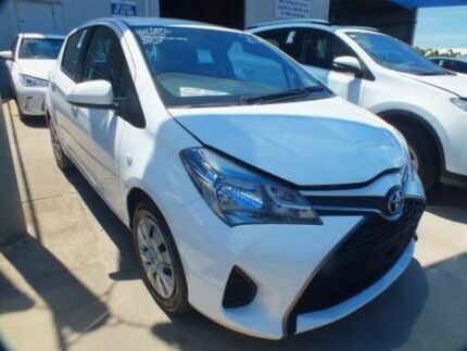2017 Toyota Yaris NCP130R MY15 Ascent Glacier White 4 Speed Automatic Hatchback
