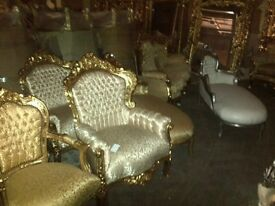 Half price weekend French new gold cream princess throne