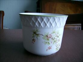 Small Ceramic Plant Pot With Flowery Pattern For Sale