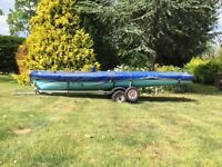 Laser 'Fun' Sailing Dinghy - comes with Road & Launch Trailer