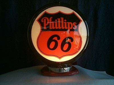gas pump globe PHILLIPS 66 reproduction 2 glass faces ina plastic body NEW