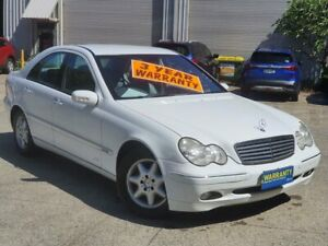 2001 Mercedes-Benz C-Class W203 C220 CDI Elegance White 5 Speed Automatic Sedan Mayfield East Newcastle Area Preview