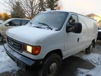 2003 Ford E350 cargo van, insulated walls, and rubber floor