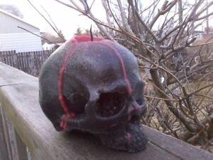 Bleeding wax Skull Candles