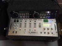 KAM KAP500 MK11 Mixer, Dual CD with two large 250W Speakers. (DJ equipment)