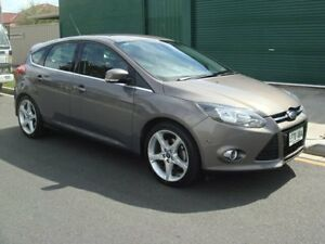 2011 Ford Focus LW Titanium PwrShift Grey 6 Speed Sports Automatic Dual Clutch Hatchback Broadview Port Adelaide Area Preview