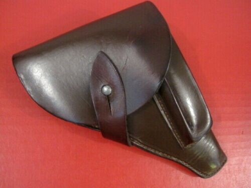 WWII Era French Army Leather Holster for Model 1935 S SACM Pistol - XLNT - RARE