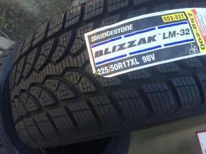 $699 (TAX-IN)– NEW 225/50/R17 Bridgestone Blizzak LM-32 snows– BMW 3 & 4 Series/ X1/ C Class/ Audi A4/ A5/ Accord/ Focus