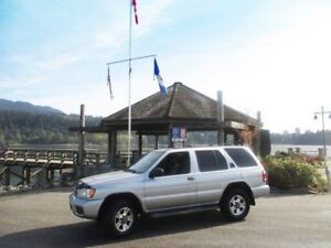 2002 Nissan Pathfinder Chilkoot Silver with Black Leather