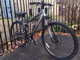 """Carrera Crossfire 2 17"""" Mens / Womens Hybrid Bike with lots of extras"""