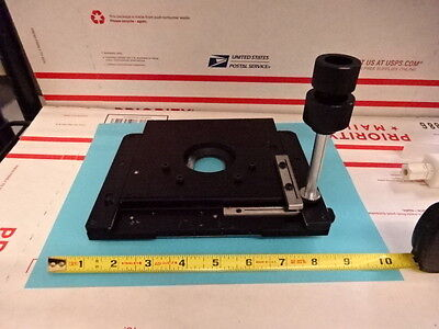 Microscope Part Meiji Techno Japan Stage Table Micrometer As Is 30-a-01