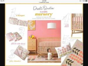 DwellStudio Rosette Blossom Crib Bedding Set