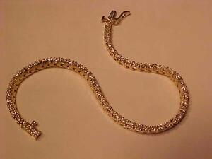 #3193-2.00 Carat of DIAMONDS!-61 BRILLIANT WHITE DIAMONDS-14K YELLOW GOLD  BRACELET-APPRAISED $6,550.00 SELL-$1,695.00