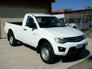 2010 Mitsubishi Triton MN MY11 GLX 4x2 White 5 Speed Manual Utility Mount Lawley Stirling Area Preview