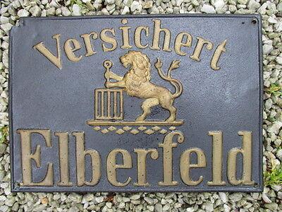 VERSICHERT ELBERFELD  gepr. Blech  EV.: 146 Q  um 1875