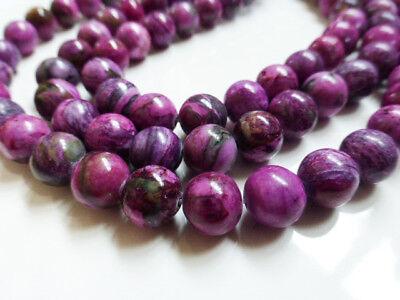 "1 x 15"" Strand 10mm Purple Pink Jasper Round Beads Gemstones Semi Precious -GB11"