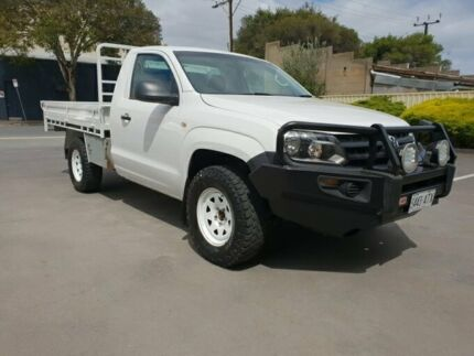 2012 Volkswagen Amarok 2H MY12.5 TDI400 (4x4) White 6 Speed Manual Cab Chassis Melrose Park Mitcham Area Preview