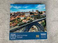 Jigsaw puzzles 1000 pieces Dom Luis Bridge Portugal, used, complete set