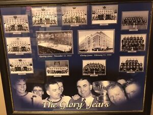 """Toronto Maple Leafs """"Glory Days"""" Framed Matted Print"""