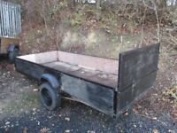 11/4 box trailer in good condition with drop down back £100