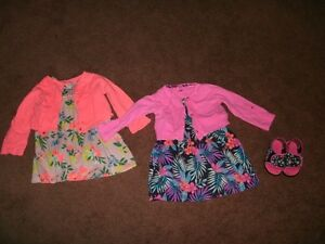 Girl's Cute Summer Dresses with Jacket, Size 24 Mo.