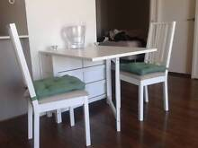 Foldable dinning table with 2 chairs excellent condition North Melbourne Melbourne City Preview