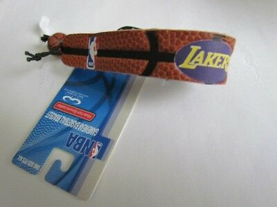 1 leather basketball bracelet NBA Los Angeles Lakers gamewear wristband new tag Basketball Gamewear Bracelet