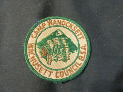 Camp Wanocksett, Wachusett Council Pocket Patch      TH6