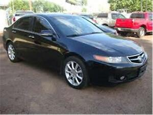 2006 ACURA TSX 6SPEED MANUAL BLACK ON TAN