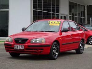 2003 Hyundai Elantra XD MY04 Red 4 Speed Automatic Hatchback Garbutt Townsville City Preview