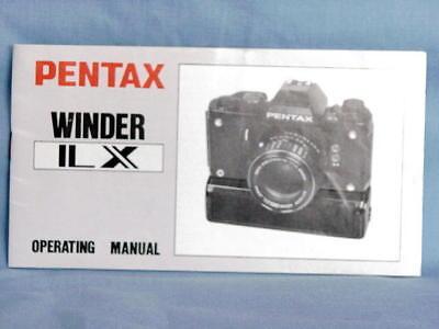 Инструкции и руководства PENTAX LX WINDER