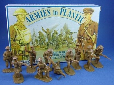 ARMIES IN PLASTIC WWI British Army Steel Helmets Toy Soldiers SEALED FREE SHIP
