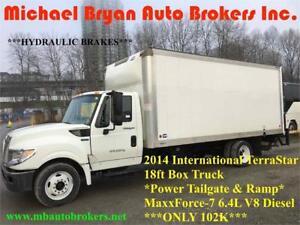 2014 INTERNATIONAL TERRASTAR 18FT BOX TRUCK W/ TAILGATE *102K*