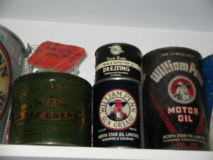 North Star WM. Penn,Continental OIl & Buffalo oil tin cans