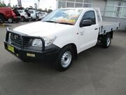 2012 Toyota Hilux TGN16R MY12 Workmate White 5 Speed Manual Dual Cab Pick-up Armidale Armidale City Preview