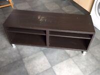 QUICK SALE: Sturdy dark-wood effect TV cabinet