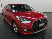 2015 Hyundai Veloster FS4 Series 2 SR Turbo Red 6 Speed Manual Coupe Albion Brimbank Area Preview