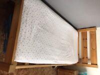 Chunky pine single bed