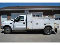 1999 FORD F550 XLT SERVICE BODY 7.3L DIESEL 4X4 225K ONLY$14,700