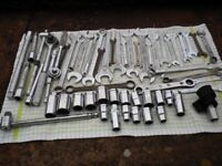 spanners, sockets etc