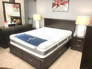 BRAND NEW CANADIAN MADE BED WITH STORAGE!!!