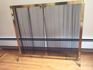 chain mail fireplace screen