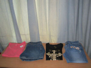 Girl's Shirts & Jeans, QTY = 4